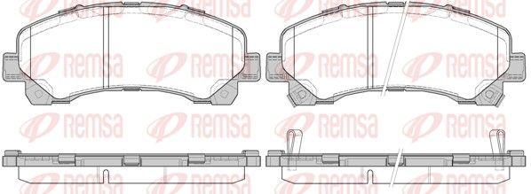 REMSA  1407.00 Bremsbelagsatz, Scheibenbremse Höhe: 60,8mm, Dicke/Stärke: 17,4mm
