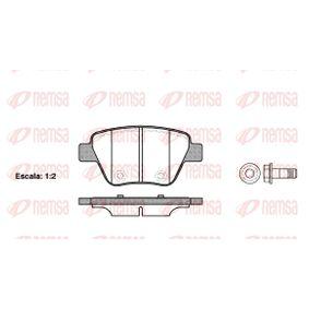 Bremsbelagsatz, Scheibenbremse Höhe: 53,4mm, Dicke/Stärke: 16,5mm mit OEM-Nummer 5K0698451A