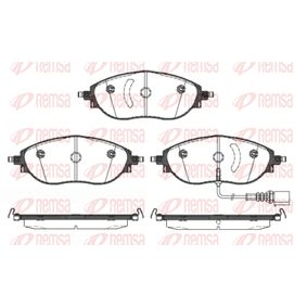 Brake Pad Set, disc brake Height: 69,7mm, Thickness: 20mm with OEM Number 3C0 698 151G