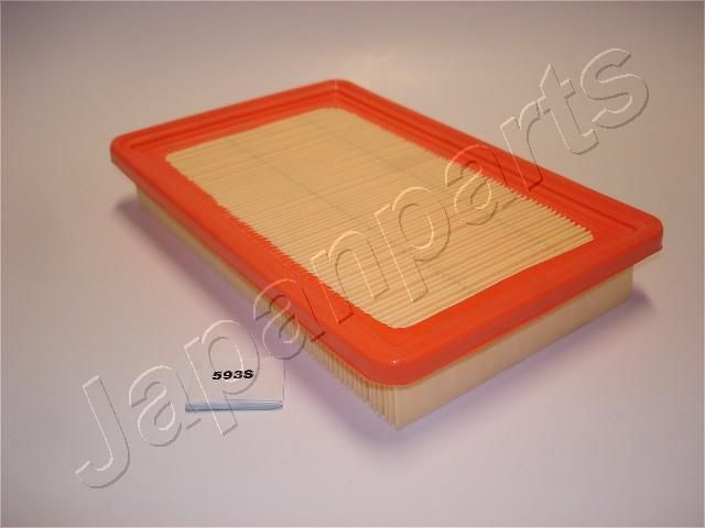 JAPANPARTS  FA-593S Air Filter Length: 245,5mm, Width: 161mm, Height: 38,6mm, Length: 245,5mm
