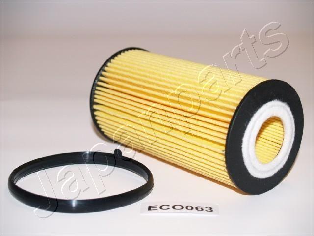 JAPANPARTS  FO-ECO063 Ölfilter Ø: 65mm, Innendurchmesser: 28mm, Länge: 124mm, Länge: 124mm