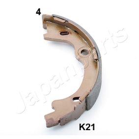 JAPANPARTS Bremsbackensatz, Feststellbremse GF-K21AF mit OEM-Nummer 583501HA00