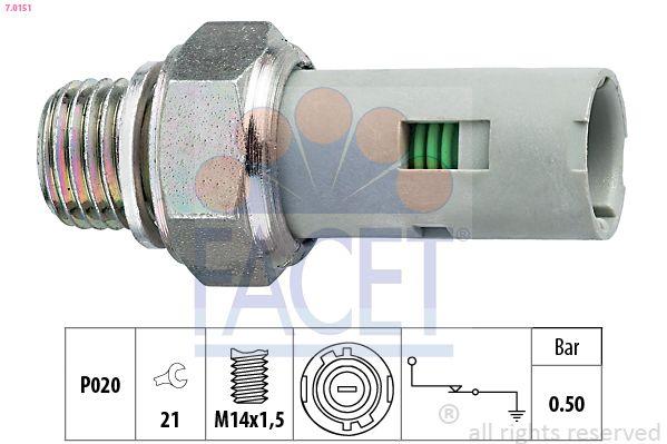 FACET  7.0151 Διακόπτης πίεσης λαδιού