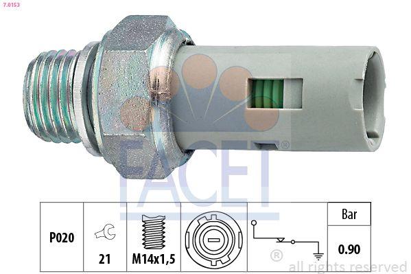 FACET  7.0153 Διακόπτης πίεσης λαδιού