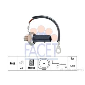 FACET Öldruckschalter 7.0167 für AUDI A4 Cabriolet (8H7, B6, 8HE, B7) 3.2 FSI ab Baujahr 01.2006, 255 PS