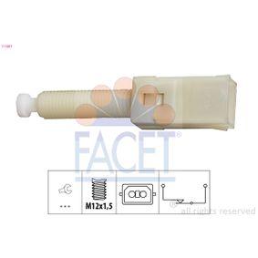 FACET Bremslichtschalter 7.1087 für AUDI 80 Avant (8C, B4) 2.0 E 16V ab Baujahr 02.1993, 140 PS