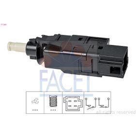 Interruptor de Luz de Freno MERCEDES-BENZ CLASE A (W168) A 160 (168.033, 168.133) de Año 07.1997 102 CV: Interruptor luces freno (7.1260) para de FACET