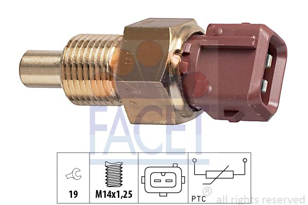FACET  7.3308 Sensor, temperatura del refrigerante