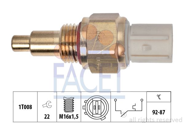 FACET  7.5050 Temperatuurschakelaar, radiateurventilator