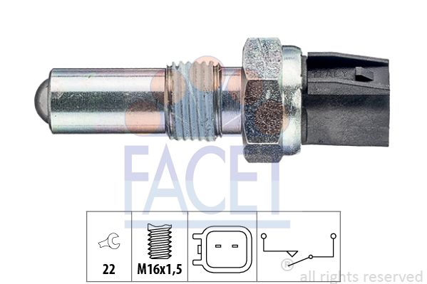 FACET  7.6283 Switch, reverse light Spanner size: 22