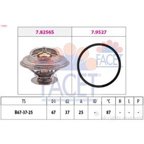 FACET Thermostat, Kühlmittel 7.8256 für AUDI COUPE (89, 8B) 2.3 quattro ab Baujahr 05.1990, 134 PS