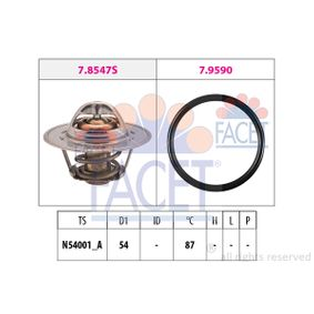 Thermostat, coolant D1: 54mm with OEM Number 68000 800AA