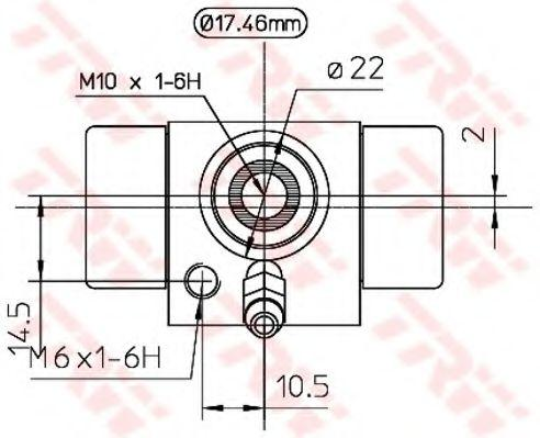 Cilindro de Freno de Rueda TRW BWC107A evaluación