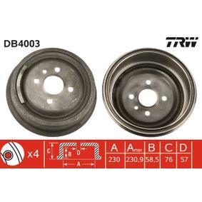 Bremstrommel Art. Nr. DB4003 120,00€
