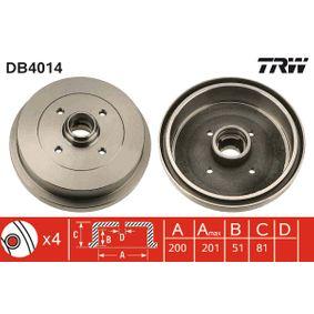 Bremstrommel Trommel-Ø: 200,0mm, Br.Tr.Durchmesser außen: 210,5mm mit OEM-Nummer 191 501615 A