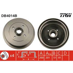 Bremstrommel Trommel-Ø: 200,0mm, Br.Tr.Durchmesser außen: 210,5mm mit OEM-Nummer 191.501.615A