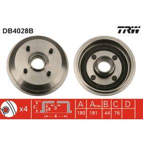 Brake Drum Drum Ø: 180mm, Outer Br. Sh. Diameter: 190mm with OEM Number 6492327