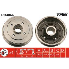 Bremstrommel Trommel-Ø: 180,2mm, Br.Tr.Durchmesser außen: 191mm mit OEM-Nummer 77 00 783 030