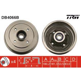 Bremstrommel Trommel-Ø: 180,2mm, Br.Tr.Durchmesser außen: 191mm mit OEM-Nummer 7700783030