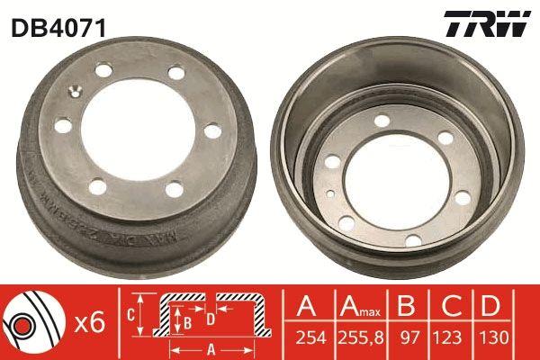Bremstrommeln DB4071 TRW DB4071 in Original Qualität