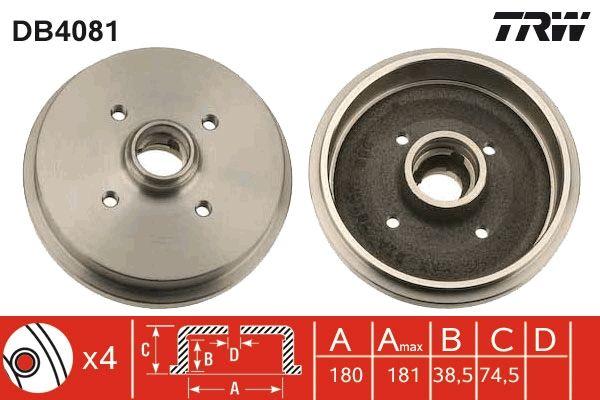 Bremstrommeln DB4081 TRW DB4081 in Original Qualität