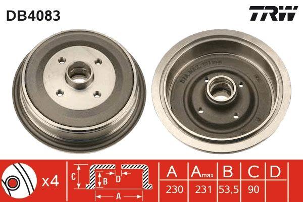Bremstrommeln DB4083 TRW DB4083 in Original Qualität