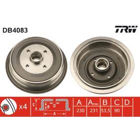 Bremstrommel Trommel-Ø: 230,0mm, Br.Tr.Durchmesser außen: 246mm mit OEM-Nummer 443 501 615
