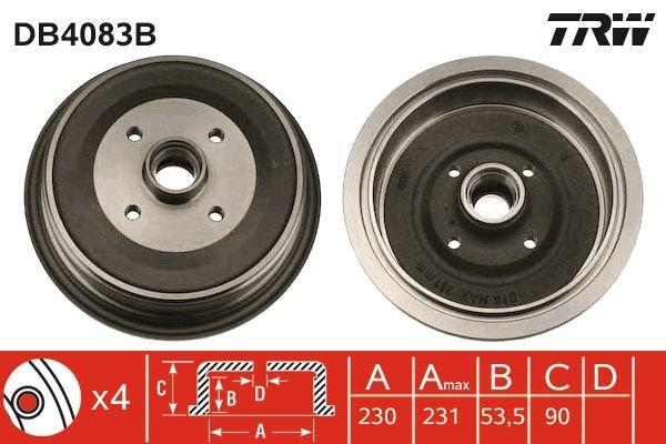TRW  DB4083B Bremstrommel Trommel-Ø: 230,0mm, Br.Tr.Durchmesser außen: 246mm