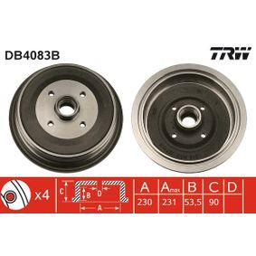 Bremstrommel Trommel-Ø: 230,0mm, Br.Tr.Durchmesser außen: 246mm mit OEM-Nummer 443501615
