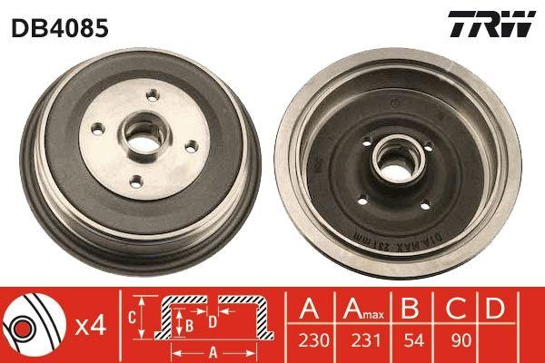 Bremstrommeln DB4085 TRW DB4085 in Original Qualität