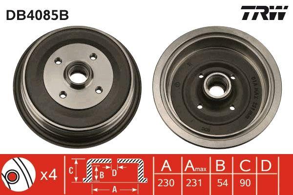 TRW  DB4085B Bremstrommel Trommel-Ø: 230mm, Br.Tr.Durchmesser außen: 246mm