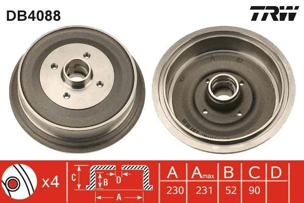 Bremstrommeln DB4088 TRW DB4088 in Original Qualität