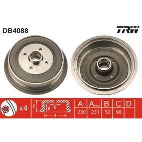 Bremstrommel Trommel-Ø: 230,0mm, Br.Tr.Durchmesser außen: 242mm mit OEM-Nummer 147 501 615 A