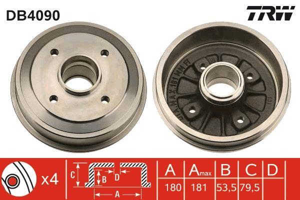 Bremstrommeln DB4090 TRW DB4090 in Original Qualität