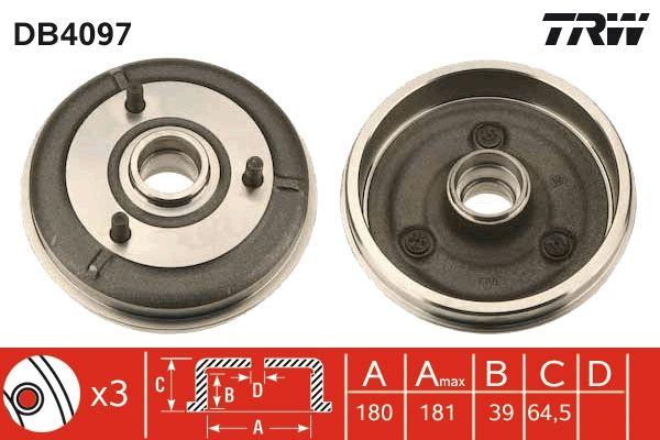 Bremstrommeln DB4097 TRW DB4097 in Original Qualität