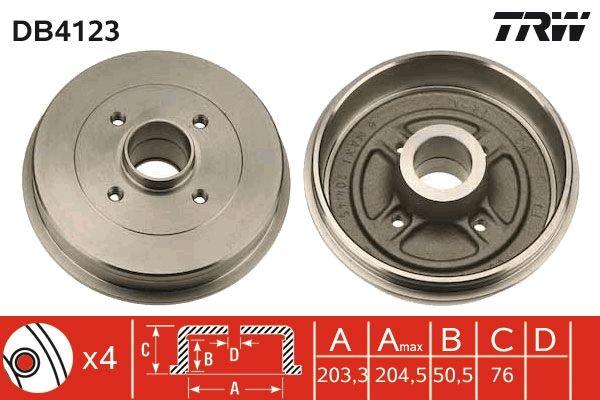 Bremstrommeln DB4123 TRW DB4123 in Original Qualität