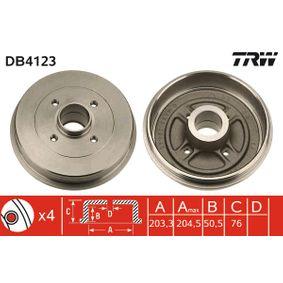 Bremstrommel Trommel-Ø: 203,3mm mit OEM-Nummer 7700 818 346