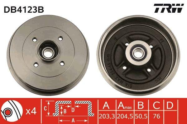 TRW  DB4123B Bremstrommel Trommel-Ø: 203,3mm