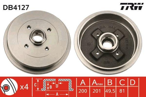 Bremstrommeln DB4127 TRW DB4127 in Original Qualität