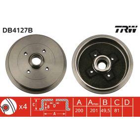 TRW  DB4127B Bremstrommel Trommel-Ø: 200