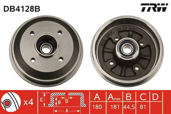 TRW  DB4128B Bremstrommel Trommel-Ø: 180mm