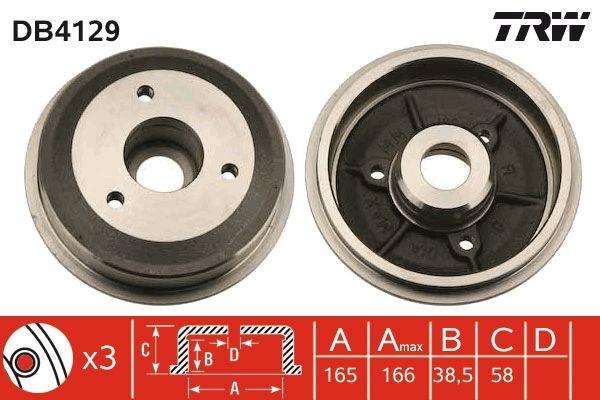 Bremstrommeln DB4129 TRW DB4129 in Original Qualität