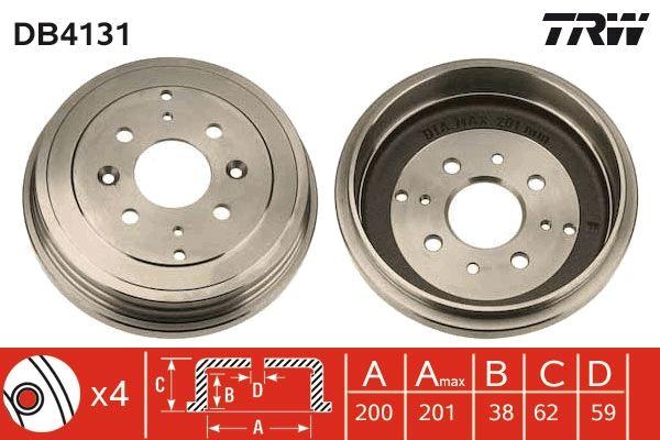 Bremstrommeln DB4131 TRW DB4131 in Original Qualität