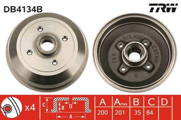 TRW  DB4134B Bremstrommel Trommel-Ø: 200mm