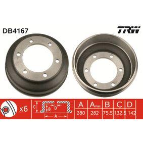 Brake Drum Drum Ø: 280,0mm with OEM Number 92VB-1126-BA