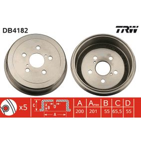 Bremstrommel Art. Nr. DB4182 120,00€
