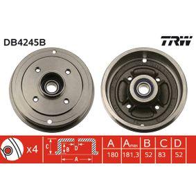 Bremstrommel Trommel-Ø: 180mm mit OEM-Nummer 7700 419 824