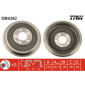 Bremstrommel Art. Nr. DB4262 120,00€