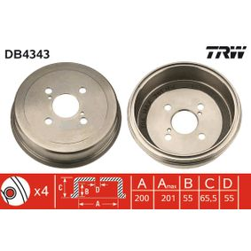 DB4343 TRW DB4343 in Original Qualität