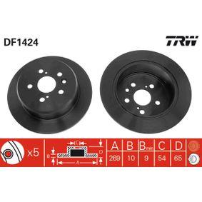 Disque de frein Epaisseur du disque de frein: 10mm, Nbre de trous: 5, Ø: 269mm avec OEM numéro 42431-20320